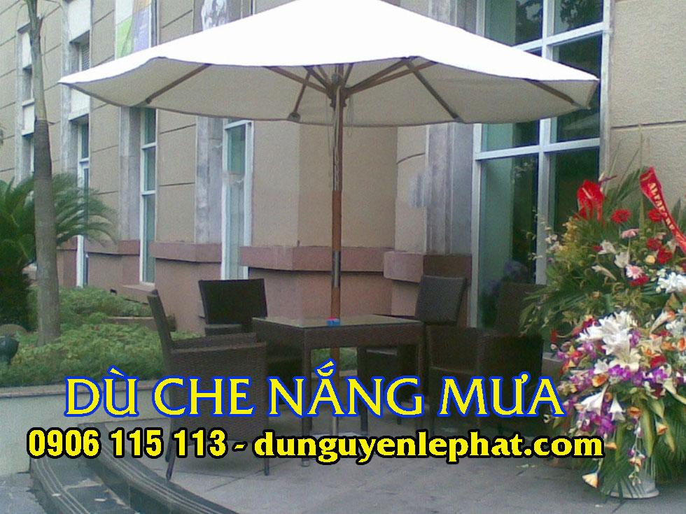 Dù che nắng mưa giá rẻ quán cafe tại Long AN, dù che ngoài trời