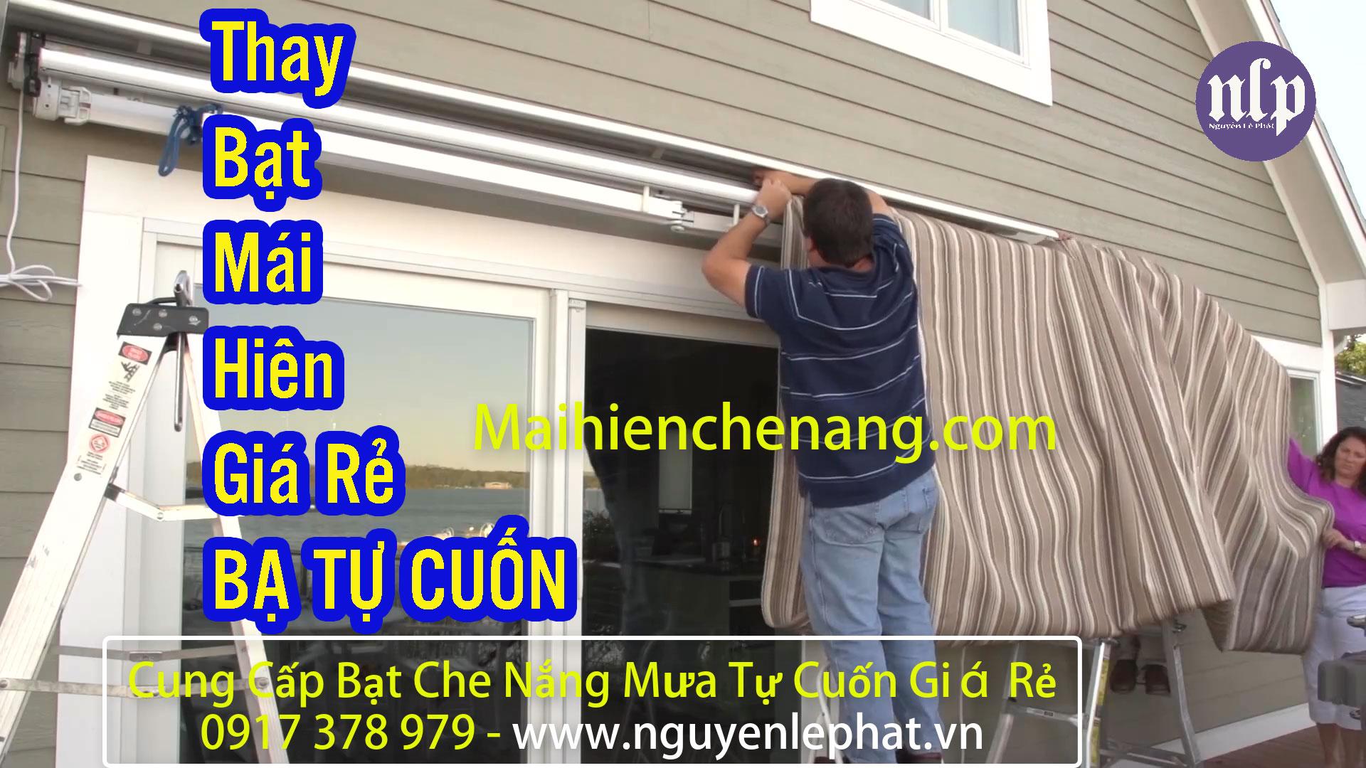 Thay Bạt Mái Hiên Che Nắng Quận 7, Lắp Bạt Che Nắng Tự Cuốn - Dù Che Mưa Quận 7
