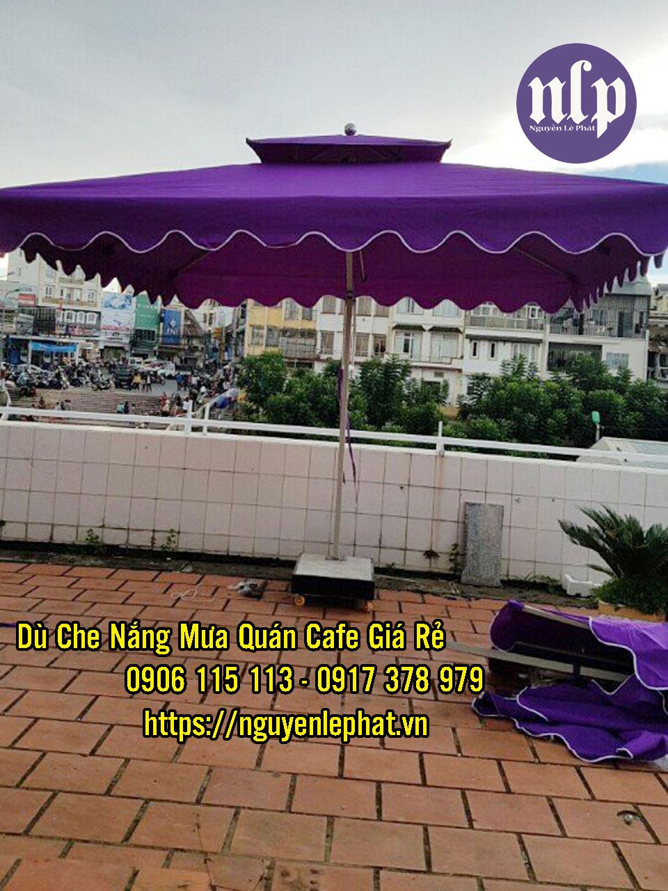 Dù Che Quán Cafe tại Tây Ninh, Dù lệch tâm 2 tầng giá rẻ đẹp tại Tây Ninh, Mẫu dù đẹp 2021